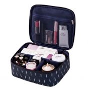 Elegant Creative Makeup Bag Storage Box,Easy To Carry,Blue Feathers – DS-HOM3743871-KATY00008