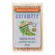 Auromere Ayurvedic Neem Picks – 100 Toothpicks – Case of 12 – 1055441