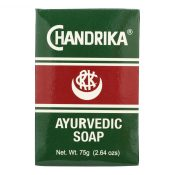 Chandrika Soap Ayurvedic Herbal and Vegetable Oil Soap – 2.64 oz – Case of 10 – 0759407