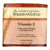 Clearly Natural Bar Soap – Vitamin E – 3 Pack – 4 oz – 1170497