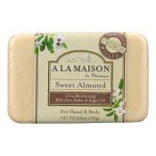 A La Maison – Bar Soap – Sweet Almond – 8.8 oz – 0844654