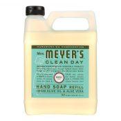Mrs. Meyer's Clean Day – Liquid Hand Soap Refill – Basil – Case of 6 – 33 fl oz. – 1205376