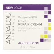 Andalou Naturals Resveratrol Q10 Night Repair Cream – 1.7 fl oz – 0789180