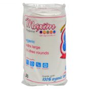 Maxim Hygiene Products Organic Cotton Rounds – Extra Large – 50 ct – 1305895