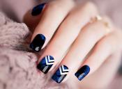 Chevron Blue Nail Wraps – 290