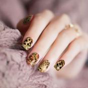 Cheetah Rose Nail Wraps – 349