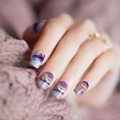 Marble Wood Nail Wraps – 361