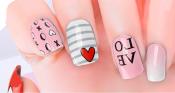 Love Heart Nail Wraps – 449