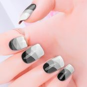 Grey Scale Nail Wraps – 432