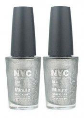 Lot Of 2 – Nyc In A New York Color Minute Nail Polish #292 Tribeca Silver – hs2413oz4.2×2-074170396300