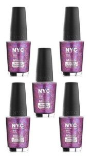 Lot Of 5 – New York Color In A New York Color Minute Nail Polish Big City Dazzle – hs2430oz11x5-074170384086