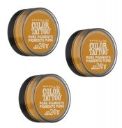 Maybelline Color Tattoo Pure Pigments Eye Shadow, #25 Wild Gold Choose Your Pack – Pack of 3 – hs1462oz0.9x3_41554334555