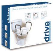 Raised Toilet Seat With Lock & Alum Det Arms Elongated – 1152C