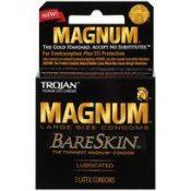 Trojan Magnum Bareskin 3 Pack Large Size Condoms – T22888