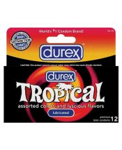 Durex condoms tropical color and scents – box of 12 – TCN-7607-27