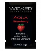Wicked Aqua Water Based Lubricant Strawberry .1oz – TCN-WS4109
