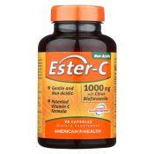 American Health Ester-C with Citrus Bioflavonoids – 1000 mg – 90 Capsules – 0888412