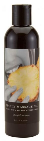 Earthly Body Edible Massage Oil Pineapple 8 Oz – EBMSE011