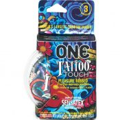 One Tattoo Touch Latex Condoms 3 Pack – R112003C