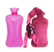 Detachable Small Cartoon Flannel Sets of Hot Water Bottle,Pink – DS-HEA3763901-AIMEE00408