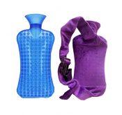 Cartoon Detachable Small Flannel Sets of Hot Water Bottle,Purple – DS-HEA3763901-AIMEE00410