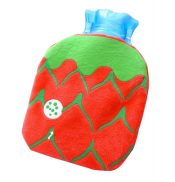 Set of 2 Fashionable Mini Hot Water Bottle Classic Beautiful Hot Water Bag, Red – DS-HEA3763901-KATY01276