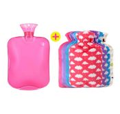 Colorful Hot Water Bottle with Soft Luxury Fleece Cover CAT STYLE (Random Bag) – DS-HEA3763901-MINT01175