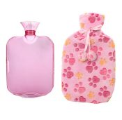 Classic Rubber Hot or Cold Water Bottle with Soft Fleece Cover (2 Liters,A3) – DS-HEA3763901-MINT02141