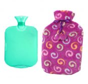 Classic Rubber Hot or Cold Water Bottle with Soft Fleece Cover (2 Liters,A8) – DS-HEA3763901-MINT02146