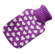 Transparent Classic Rubber Hot Water Bottle 2 Liter with Knit Cover – Purple – DS-HEA3763901-MINT02162