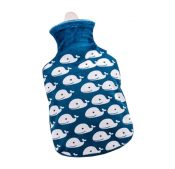 Small 500 ML Soft Cute Hot Water Bottle With Fleece Cover (Random Pattern) – DS-HEA3763901-MINT02928