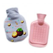 Adorable Mangosteen Pattern 350 ml Hot Water Bottle with Cute Cover – EM-HEA3763901-NY352