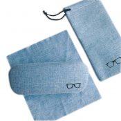 Retro Design Cotton and Linen Meterial Glasses Box#01 – EM-HEA4044171-PEGGY00352