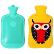 Soft Washable Rectangular Hot Water Bottle With Cover 2 L -Yellow Owl – GJ-HEA3763901-FLORA00877