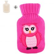 Small Washable Rectangular Hot Water Bottle With Cover 0.5 L -Owl – GJ-HEA3763901-FLORA00884
