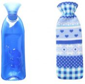 Safe PVC Hot Water Bottle With Cover Keep Warm For Adult Or Child 1.0 Litre(Blue) – GJ-HEA3763901-LITTLE00386