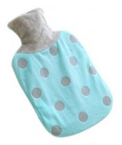 Large Plush Creative Rubber Hot Water Bottle, Sky Blue And Gray Wave Points – GM-HEA3763901-ADAM00986