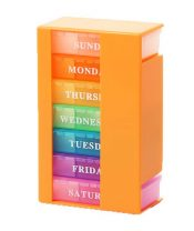 Small Drug Box Pill Box Pills Storage 7 Days Pill Box Drug Dispenser Orange – GM-HEA3764251-KELLY00330