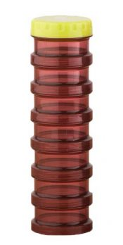 Round Sealed Bottle 7 Days Plastic Pill Box Bottle Packing Box Chocolate color – GM-HEA3764251-KELLY00340