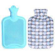 1.8 Liters Lovely Rubber Hot Water Bottle With Blue Dot Pattern Knit Cover, Blue – KE-HEA3763901-AMANDA01747