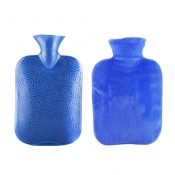 Classic Rubber Transparent Hot Water Bottle 1 Liter with Cover for Pain Relief Cold Therapy #30 – WK-HEA3763901-KRIS00344