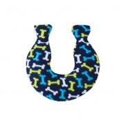 Simple Small U-Type 1.6 L Hot Water Bottle with Fabric Cover – Blue (Bones) – WK-HEA3763901-LYDIA00594