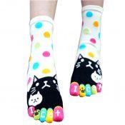 Christmas Socks Pretty Sweet Tuber Toe Socks Soft Cotton Fabric Socks(White) – GJ-SPO5006378011-ALICE00102