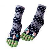 Sweet Cartoon Tube Toe Scoks Soft Black Cotton Home Socks – GJ-SPO5006378011-ALICE00112