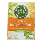 Traditional Medicinals Belly Comfort Peppermint – Caffeine Free – Case of 6 – 16 Bags – 0815902
