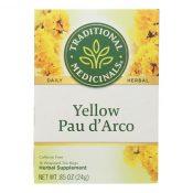 Traditional Medicinals Pau d'Arco Herbal Tea – 16 Tea Bags – Case of 6 – 0117648