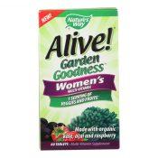 Nature's Way – Alive! Garden Goodness Women's Multi-Vitamin – 60 Tablets – 2292662