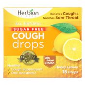 Herbion Naturals Honey Lemon Cough Drops  – 1 Each – 18 CT – 1906197