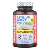 Yerba Prima Psyllium Husks Veg Caps – 625 mg – 180 Vegetarian Capsules – 0279885