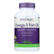 Natrol Omega-3 Fish Oil Lemon – 1000 mg – 150 Softgels – 0344143
